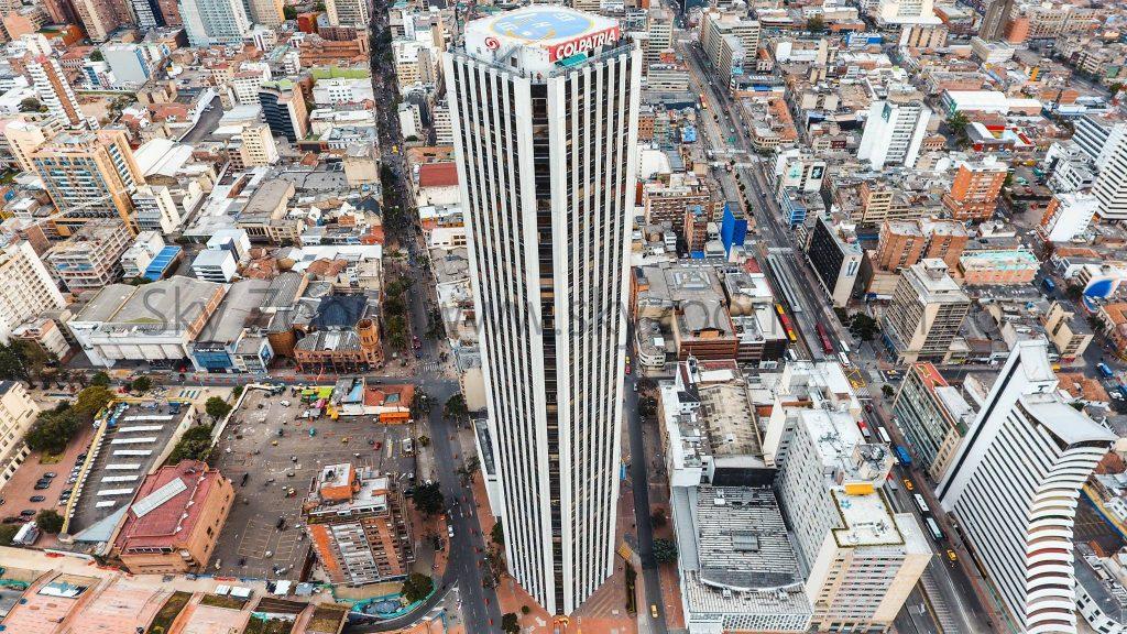 Alquiler de dron en Bogotá y Colombia. Torre Colpatria.