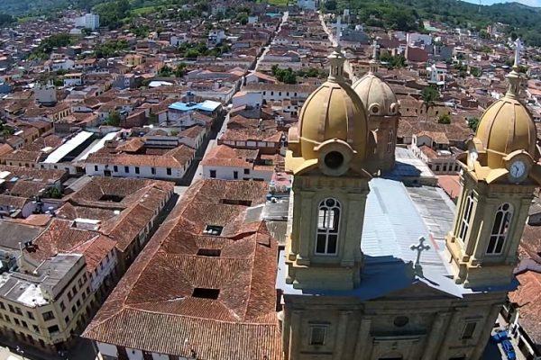 El Socorro Santander desde un drone.