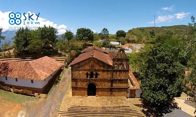 Barichara Santander. Drones Sky Zoom.