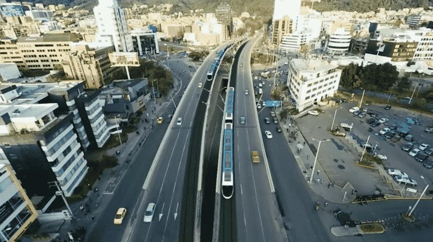 Inspección obras de ingeniería con drones. Metro ligero para Bogotá.