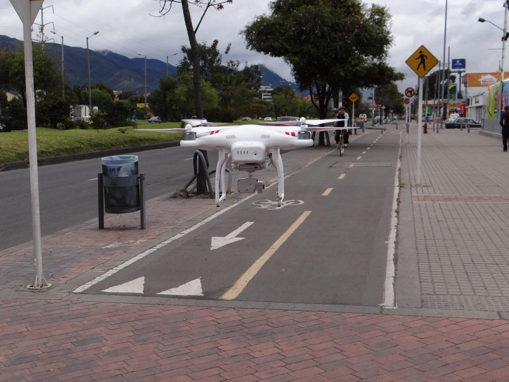 Tráfico aéreo de drones. Singapur.