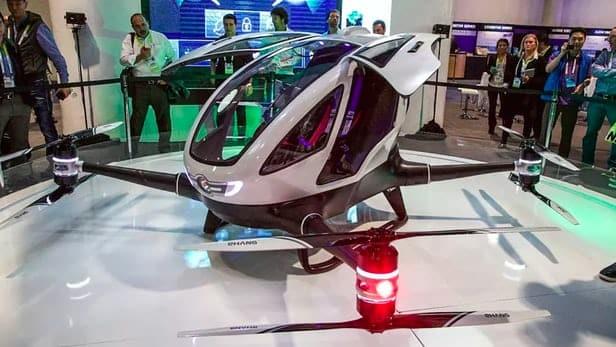 El Taxi drone Ehang 185 operaría en Dubai a partir de Julio de 2017.