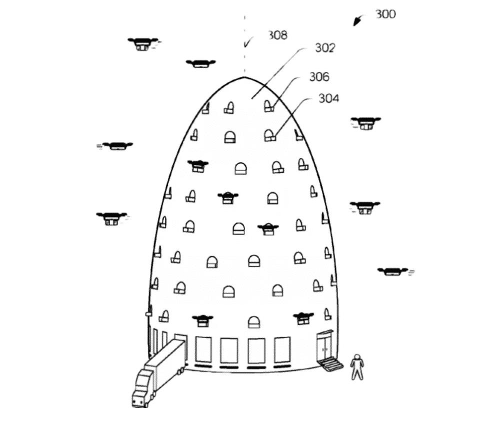 Amazon creará colmenas para drones que recogerán los pedidos y partirían a su destino.