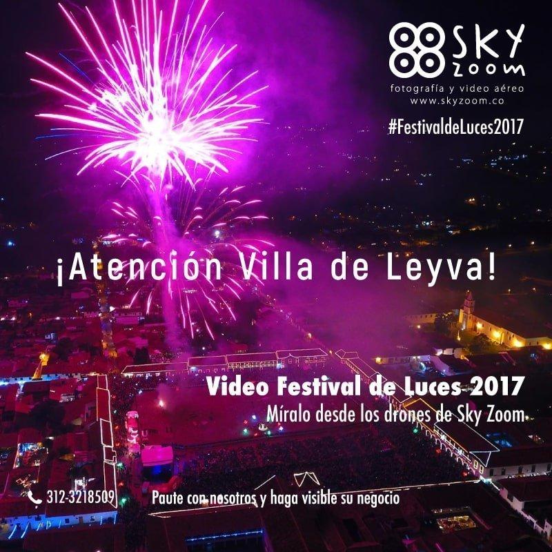 Festival de Luces Villa de Leyva Boyacá.
