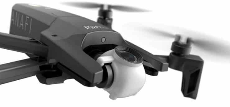 Anafi Parrot dron plegable.