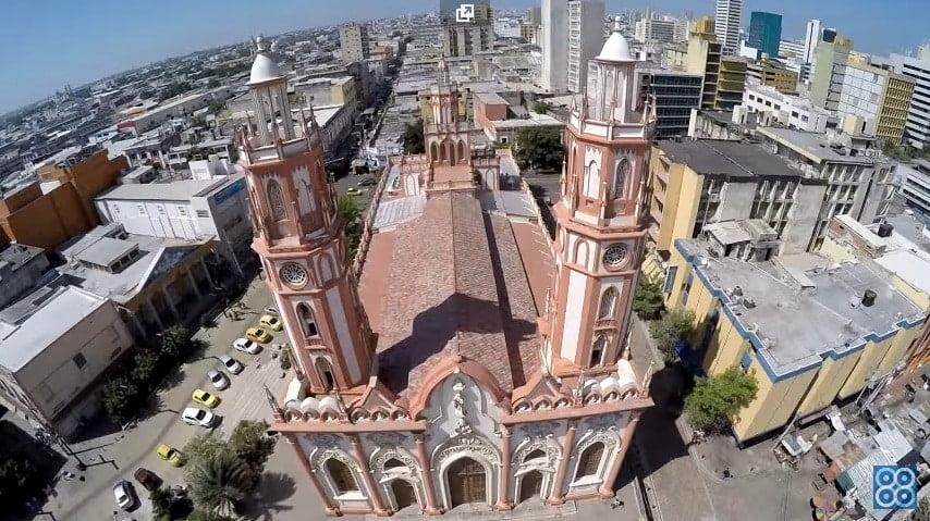 Drones Colombia: Iglesia San Nicolás Barranquilla desde un dron.
