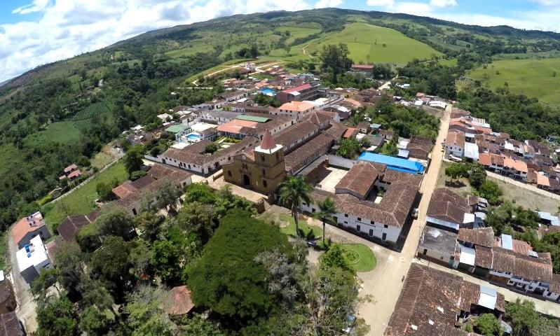 El Páramo Santander desde un drone.