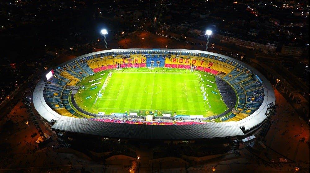 Estadio El Campin en Bogotá visto desde los drones de Sky Zoom.