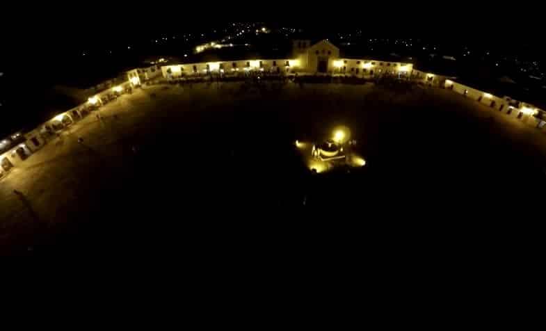 Villa de Leyva Boyacá. Drones Sky Zoom.