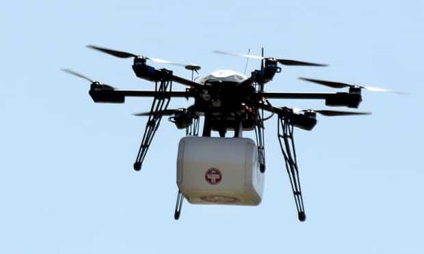 Japón usará drones para envíar medicinas.