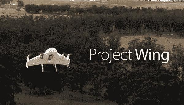 Project Wing de Google. Control de Tráfico Aéreo de drones.