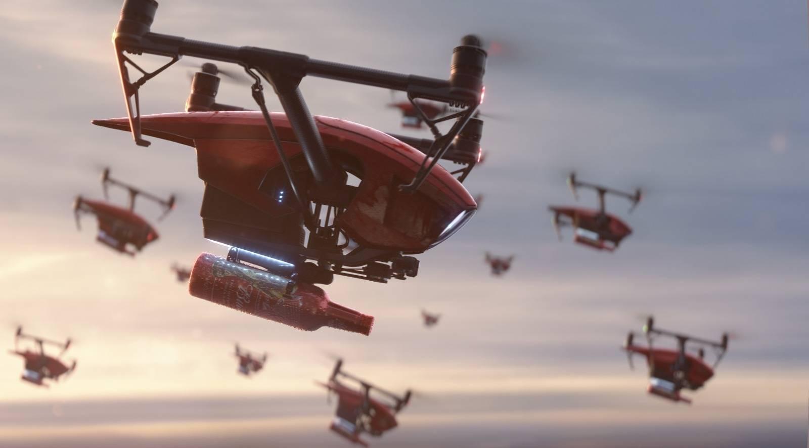 Copa Mundial de la FIFA 2018 Budweiser y su publicidad con drones cerveceros.