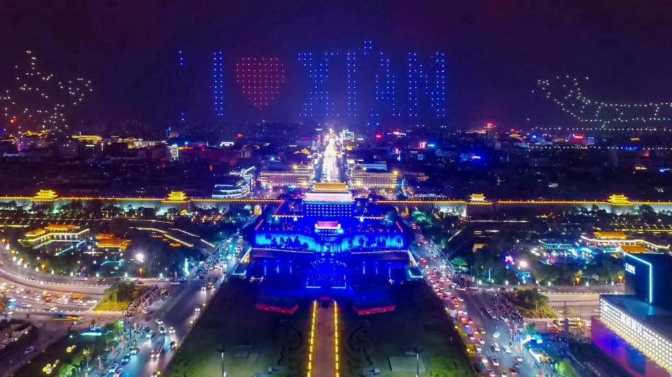 Record Guinnes con drones en China.
